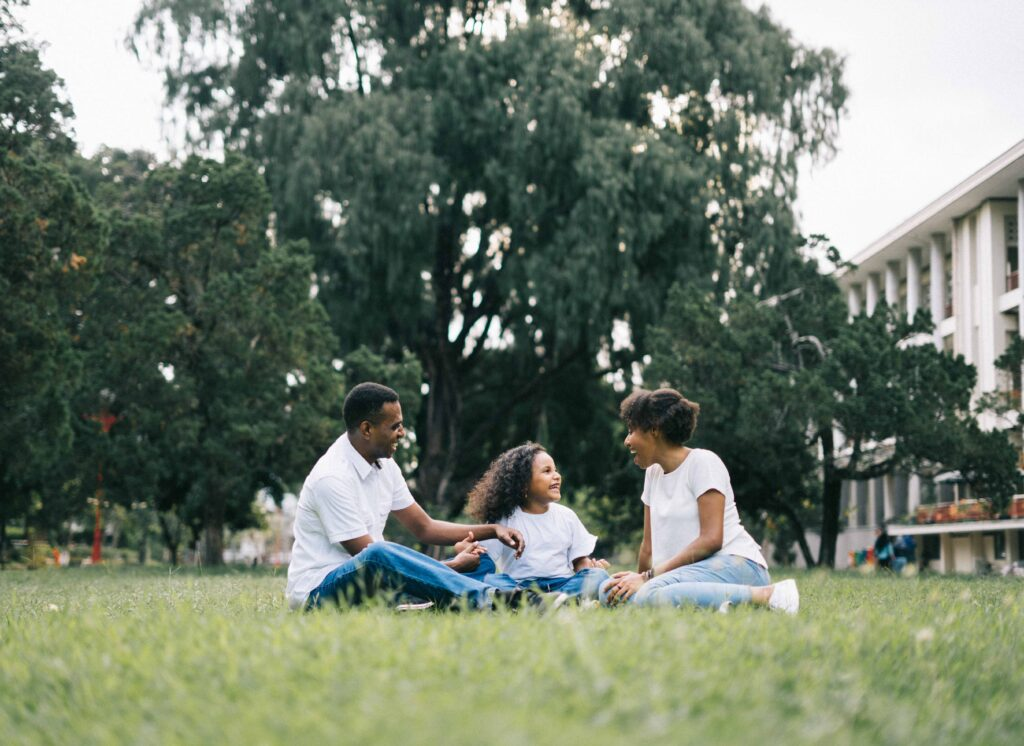A chef enjoying a day at the park with her family