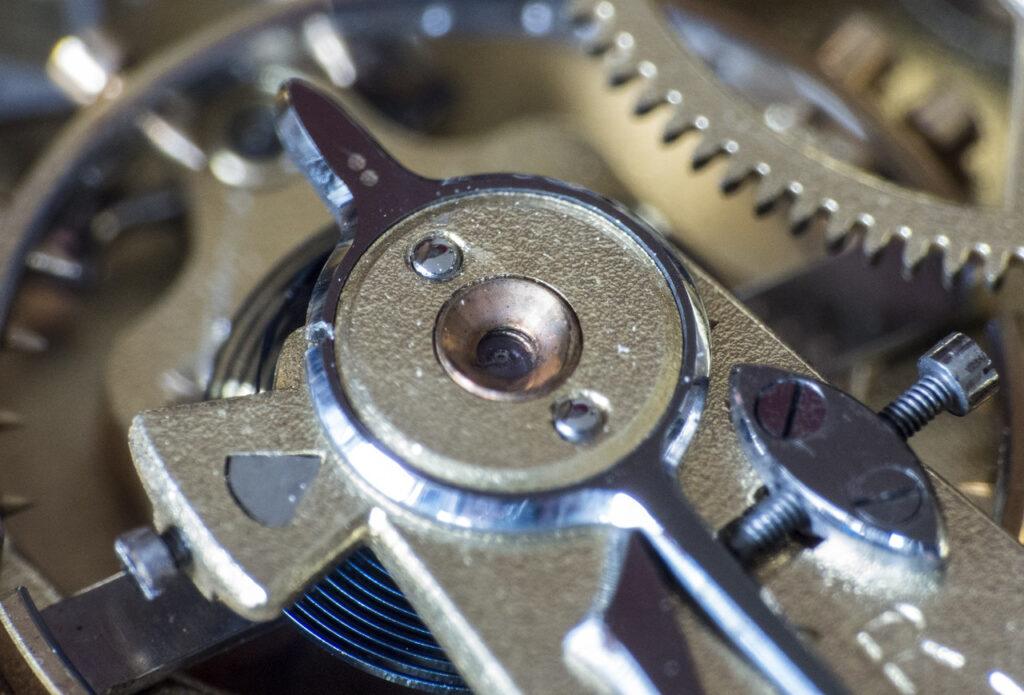 Clock mechanism up close