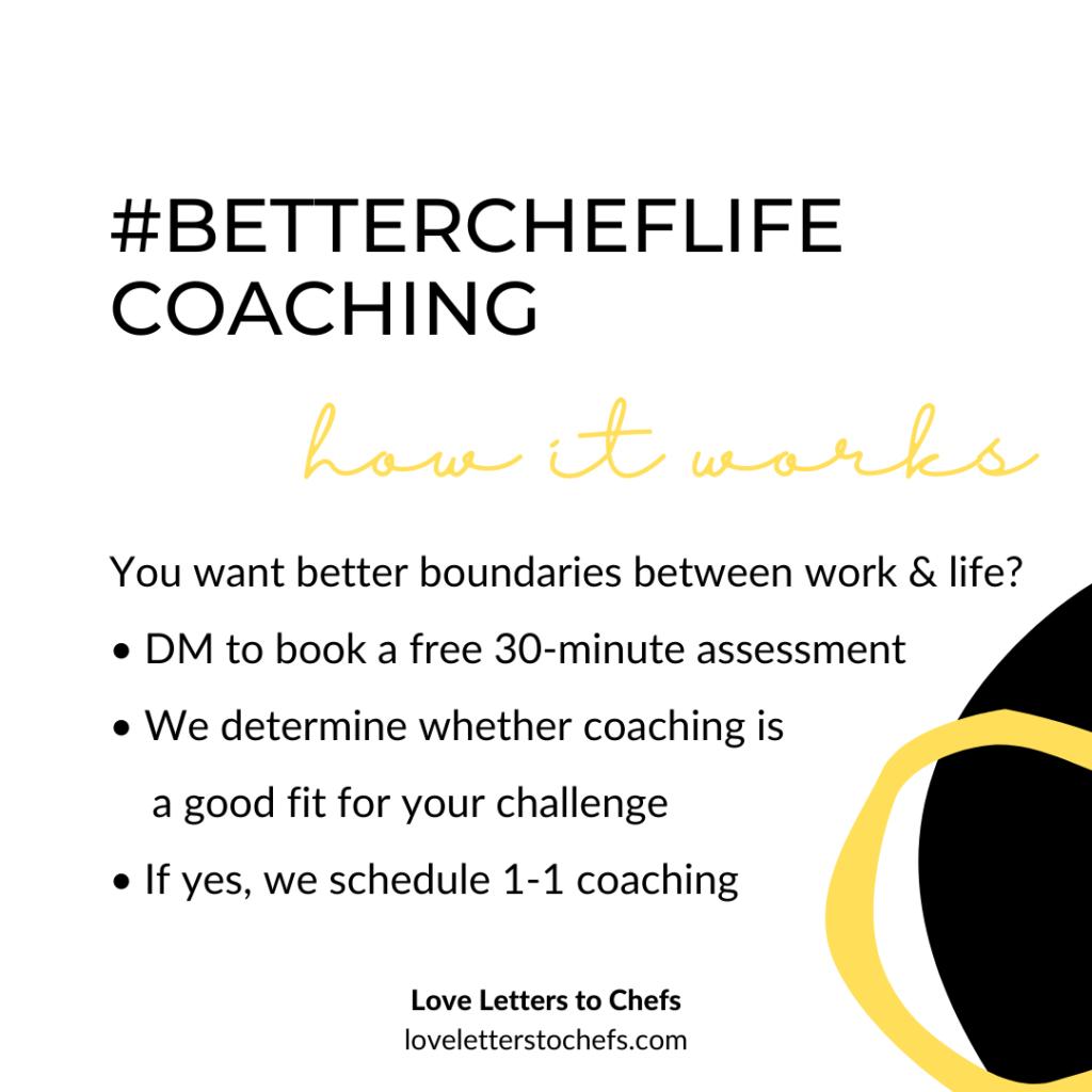 Poster for #BetterCheflife coaching