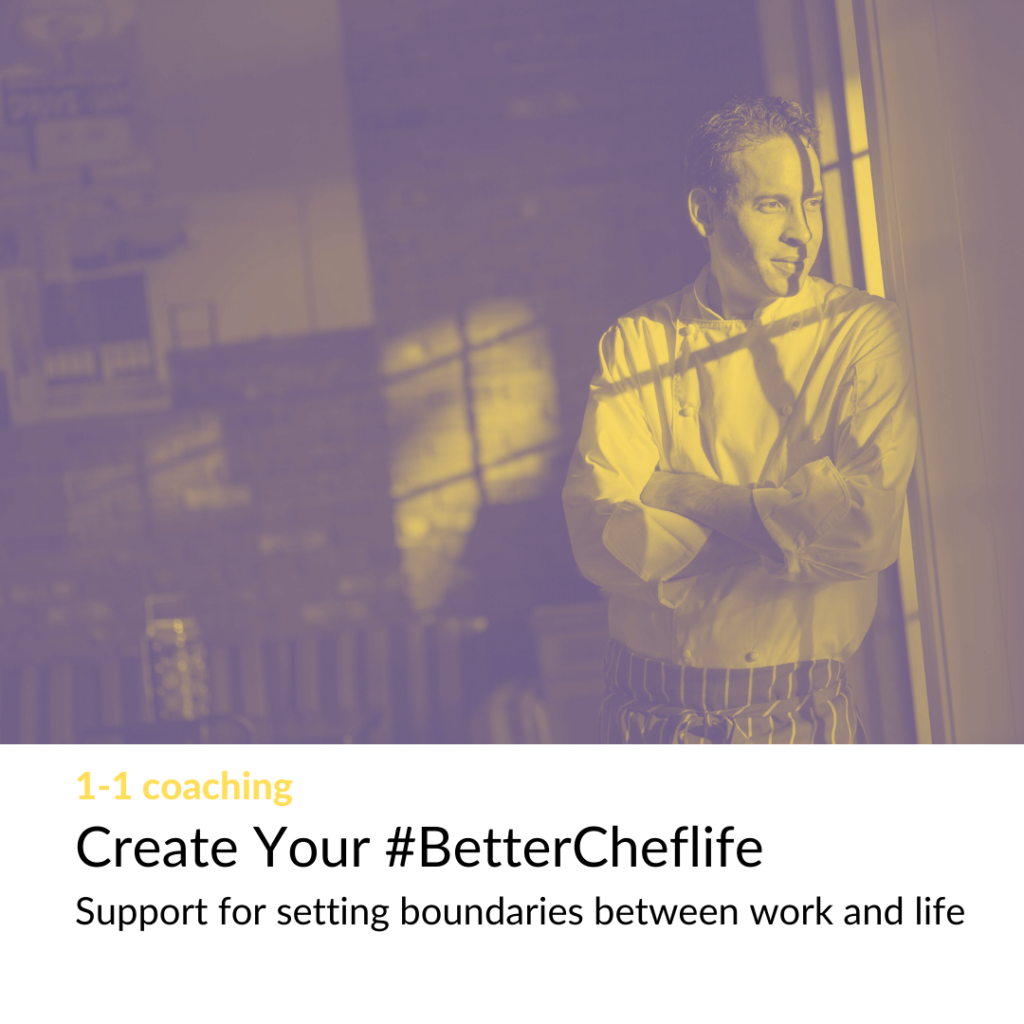 Image of poster for Create Your #BetterCheflife coaching by Love Letters to Chefs